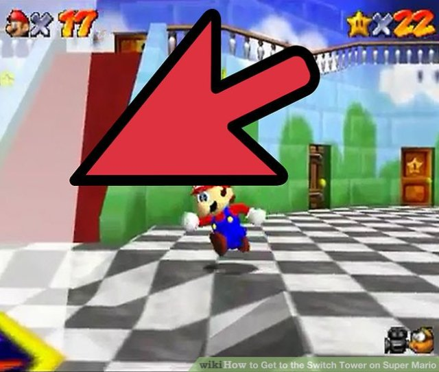 Image Titled Get To The Switch Tower On Super Mario 64 Ds Step 2