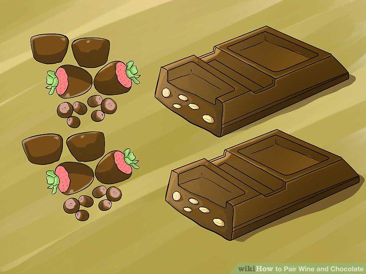 Probieren Sie Schokolade mit Obst, Nüssen oder anderen Zusätzen.