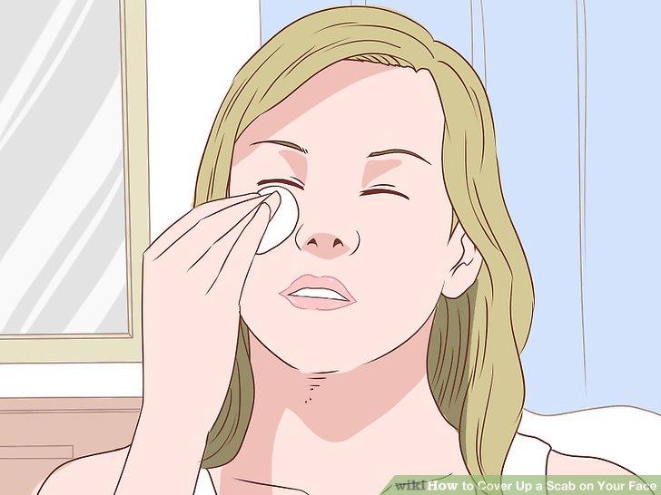 Mischen Sie Ihr Make-up mit einem kleinen Schwamm oder Pinsel.