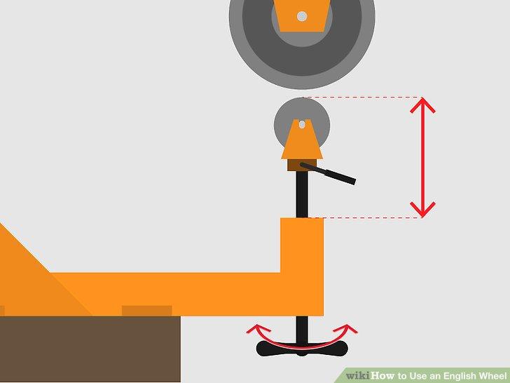 Stellen Sie den Abstand zwischen den Rädern ein.