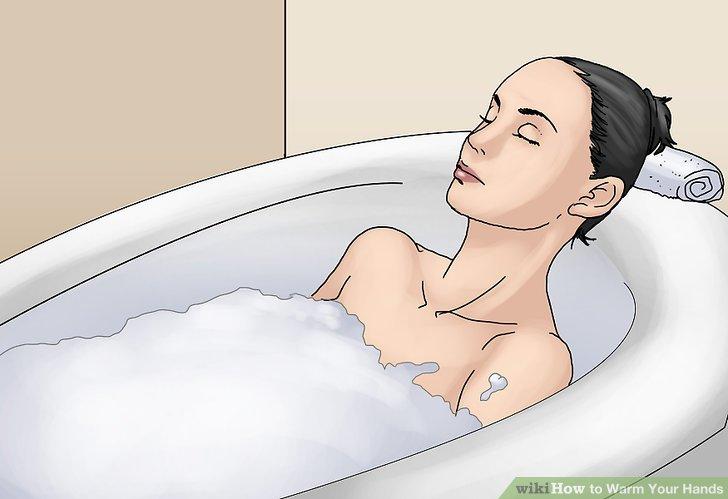 Ein warmes Bad nehmen