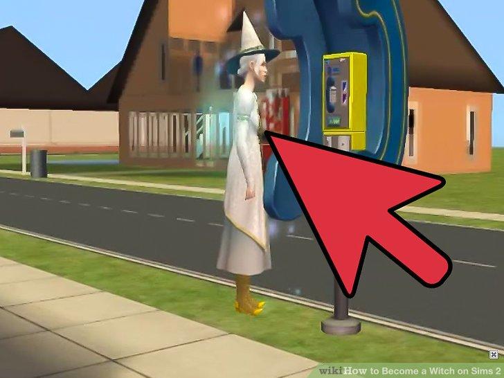 Gehen Sie zu einem Community-Los und suchen Sie nach einem Sim mit einem spitzen Hut mit diesen Farben: