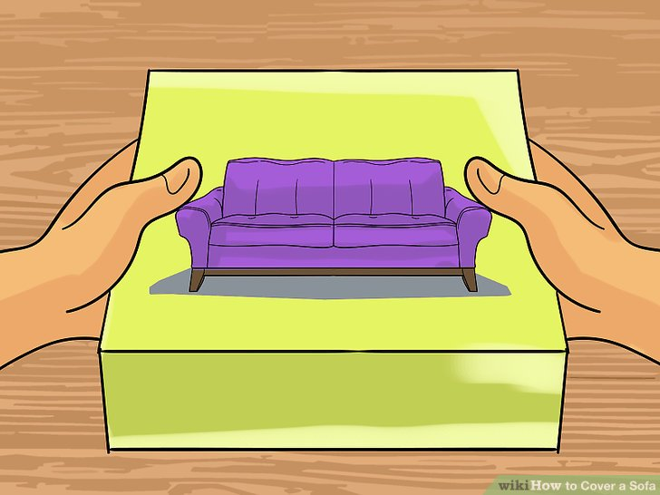 Purchase a cover with an appropriate size for your sofa.