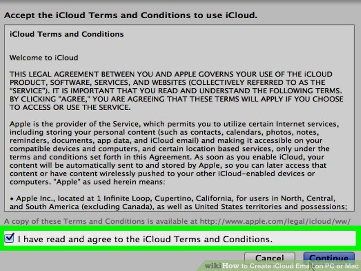 Agree to the iCloud terms.