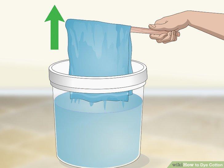 Nehmen Sie den Stoff heraus, wenn er Ihre bevorzugte Farbe hat.
