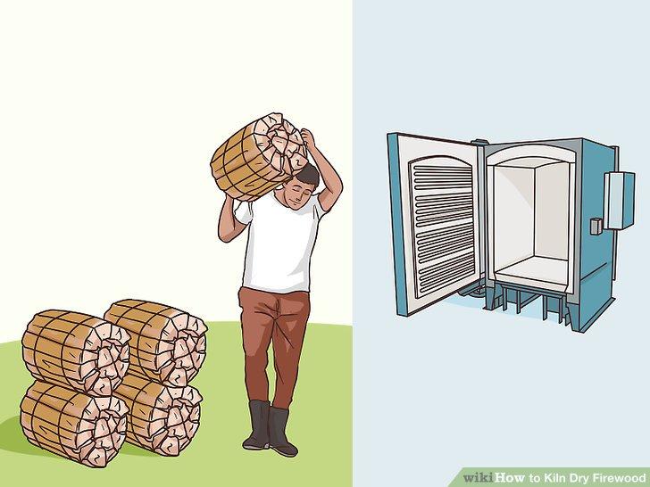 Nehmen Sie das Holz aus dem Ofen und lagern Sie es.