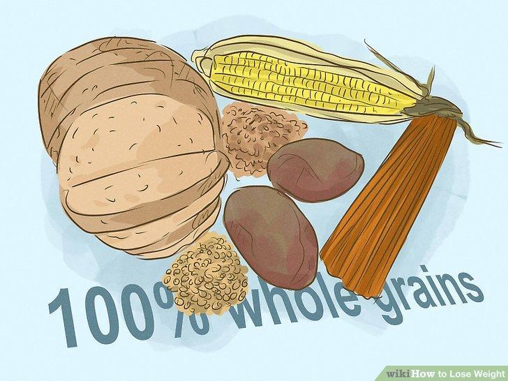 Essen Sie mehr Vollkornprodukte und schneiden Sie einfache Kohlenhydrate.