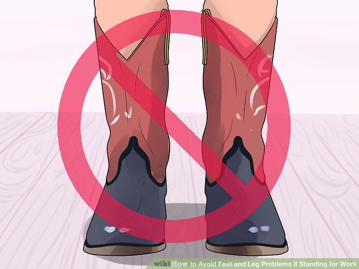 Tragen Sie keine engen Schuhe.
