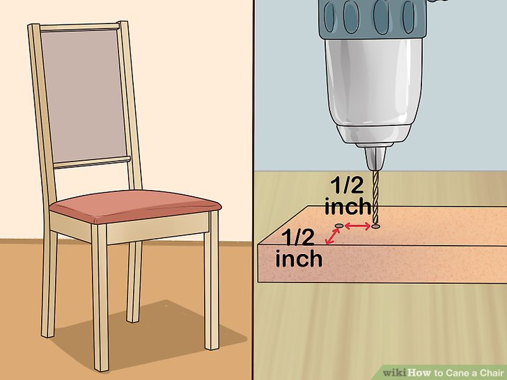how to cane a chair lawn webbing repair with pictures wikihow image titled step 1