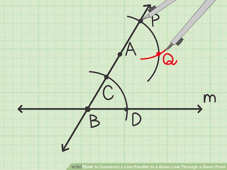 Draw the corresponding angle.