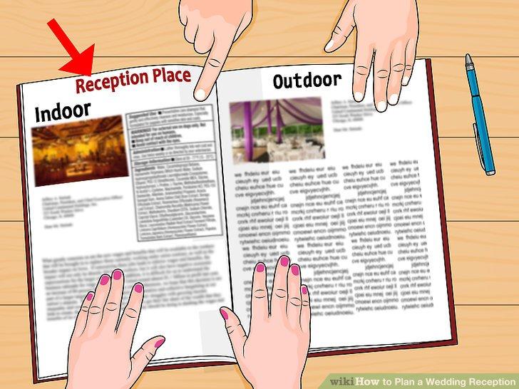 Entscheiden Sie, ob Sie eine Innen- oder Außenrezeption haben.