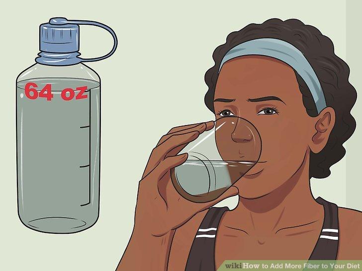 Trinken Sie täglich 64 Unzen Flüssigkeitsfrei.