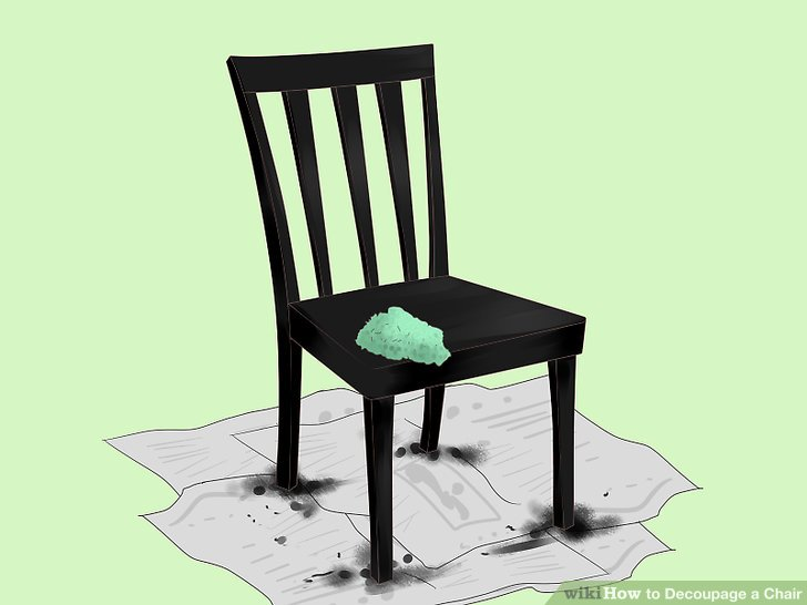 Stellen Sie sicher, dass die Stuhloberfläche sauber ist.