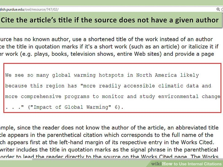 How To Use Internal Citations With Pictures WikiHow