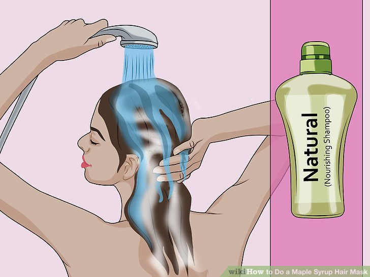 Wash the mask out of your hair with a natural shampoo.