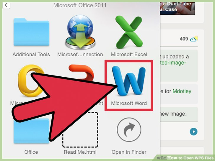 Launch the Microsoft Word application.