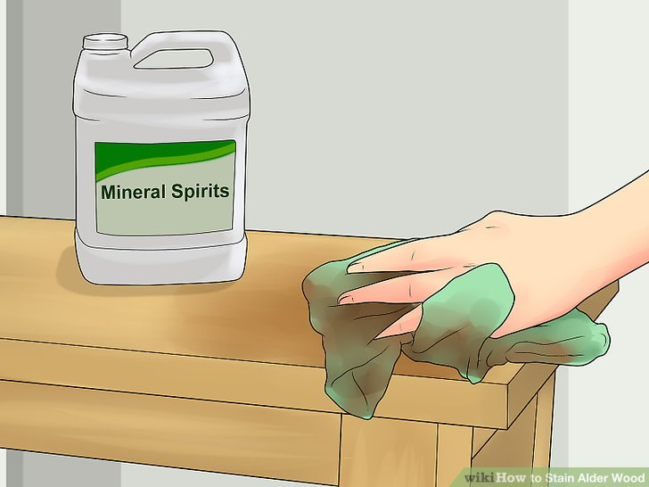 Wipe the wood down with mineral spirits after sanding.
