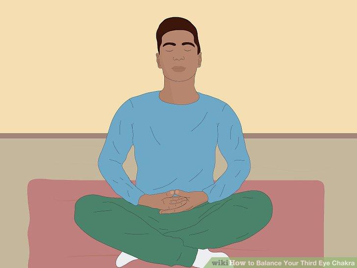 Finden Sie eine bequeme Meditationshaltung und schließen Sie dann Ihre Augen.