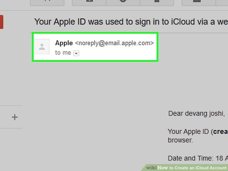 Öffnen Sie die E-Mail-Nachricht von Apple.