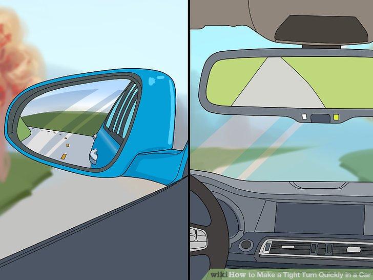 Überprüfen Sie alle Ihre Spiegel, um sicherzustellen, dass Sie klar sind.
