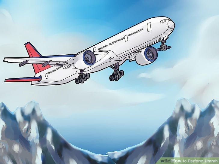 Wenn Sie fliegen, denken Sie daran, Ihram vor / während Ihrer Reise nach Mekka zu übernehmen.