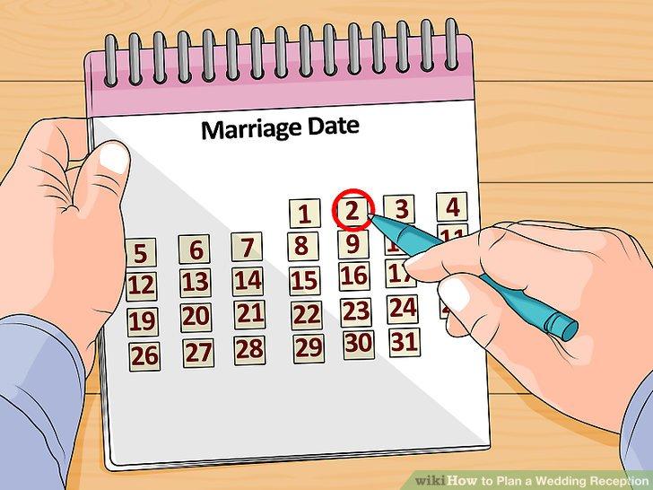 Legen Sie das Datum für Ihre Hochzeit fest, bevor Sie tatsächlich nach Orten für den Empfang suchen.