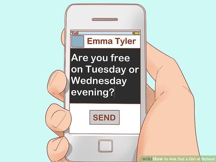 Nachricht ihr beiläufig nach einem Datum.