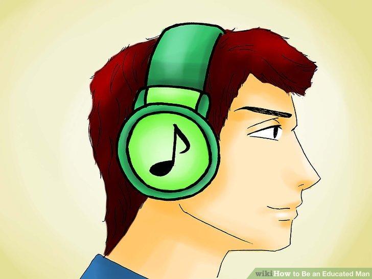 Musik hören.