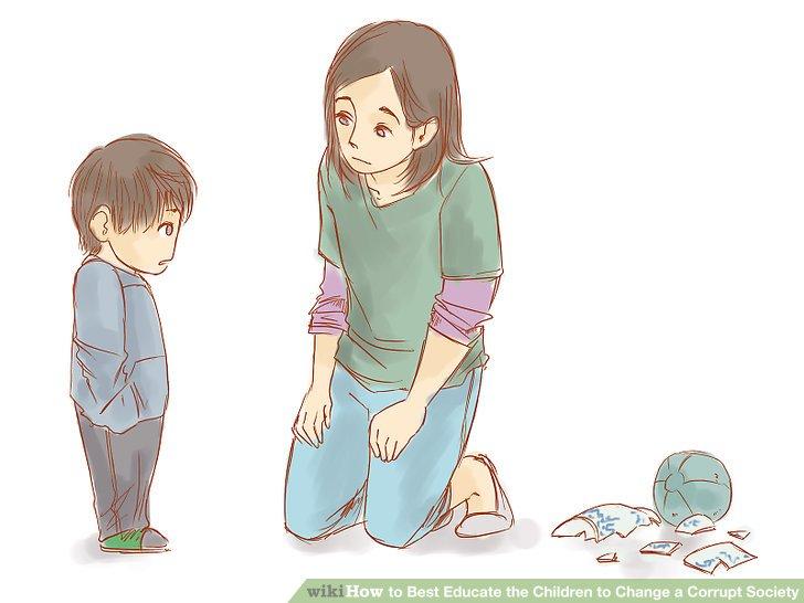 Machen Sie Ihr Kind für sein schlechtes Benehmen verantwortlich.