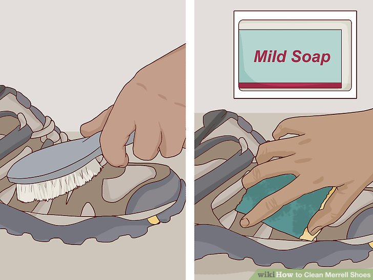 Clean your shoe thoroughly.