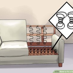 Best Way To Fix A Sofa Bed Brush How Sagging Couch 14 Steps With Pictures Wikihow Image Titled Step 4