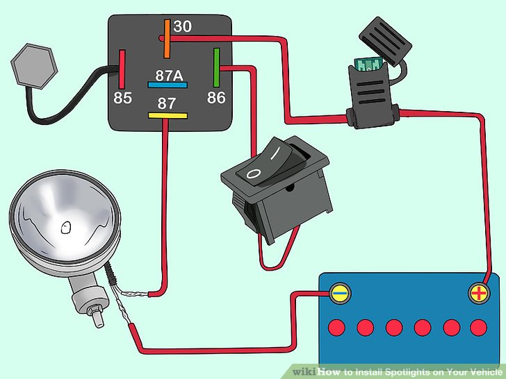 Wiring Diagram For Car Spot Lights