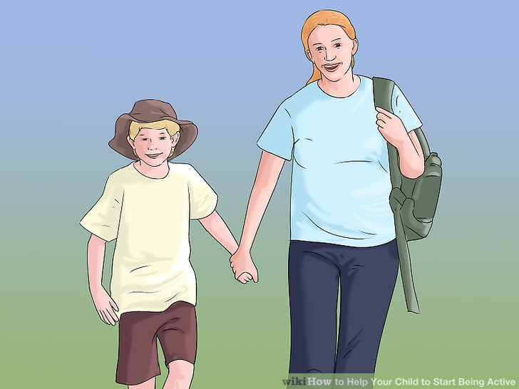 Gehen Sie mit Ihrem Kind zur Schule.