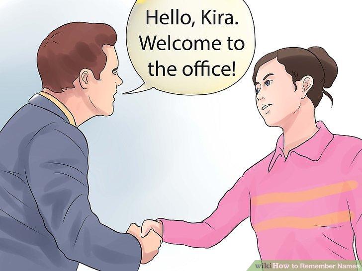 Wiederholen Sie den Namen der Person, sobald sie ihn Ihnen vorstellt.