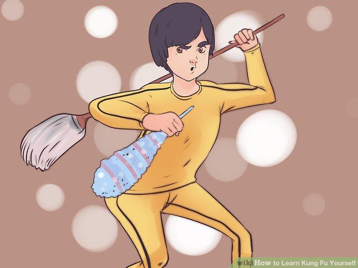 Reinigen Sie einen Bereich Ihres Hauses.