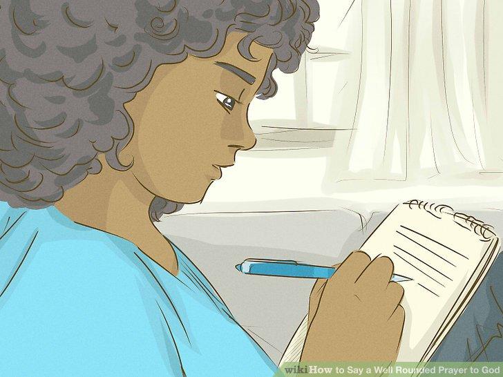 Schreiben Sie Ihr Gebet auf, wenn Sie Probleme haben, konzentriert zu bleiben.