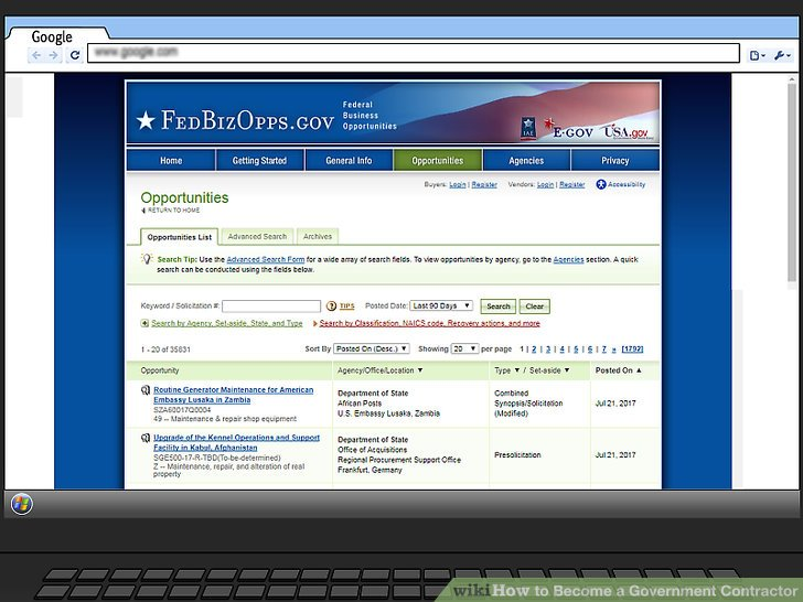 Search for open federal contracts online.
