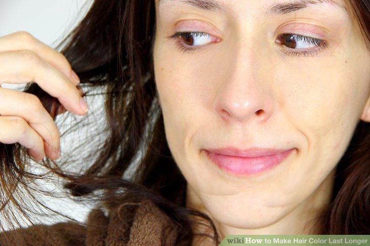 Apply an at-home hair glaze or gloss treatment.