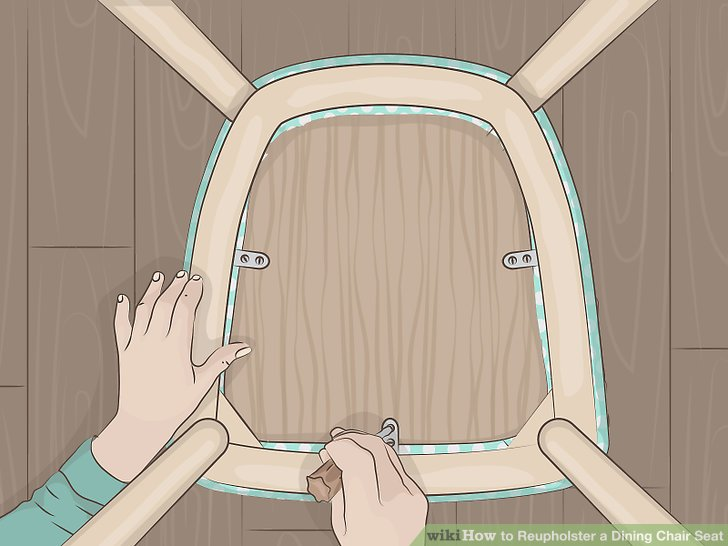 material to cover dining chairs faux fur desk chair how reupholster a seat with pictures wikihow image titled step 21