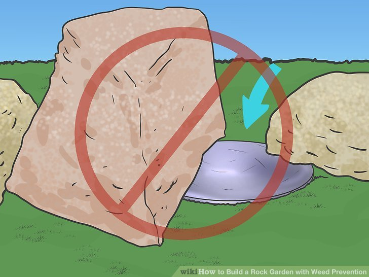 Löschen Sie die Stelle, an der Sie Ihren Steingarten anlegen möchten.