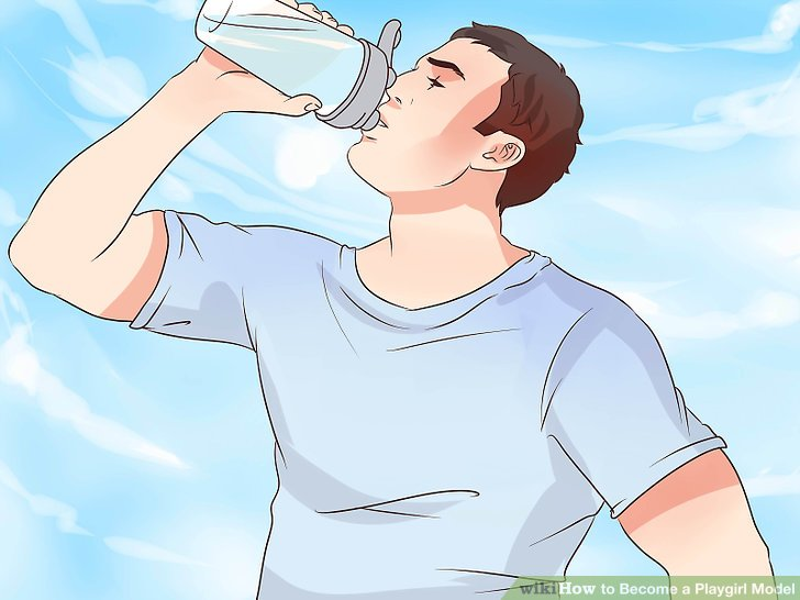 Wasser trinken.