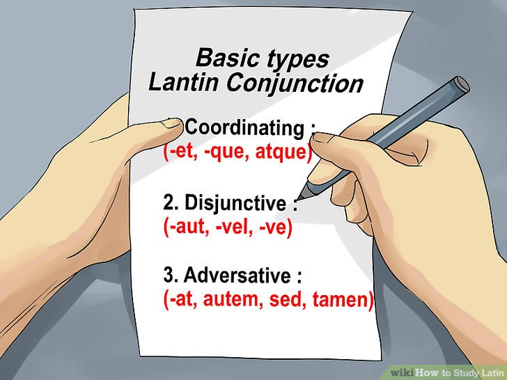 Use Latin conjunctions.