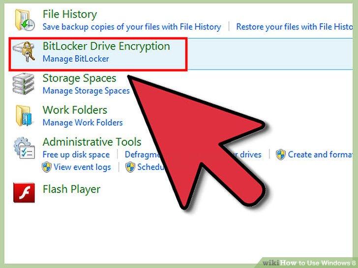 Verwenden Sie BitLocker.