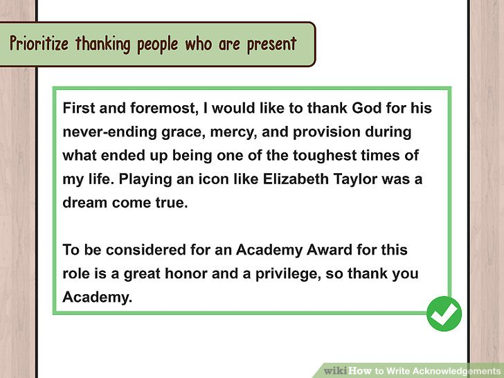 3 Ways To Write Acknowledgements WikiHow
