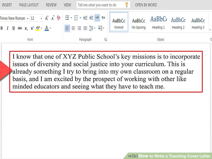 How to Write a Teaching Cover Letter with Pictures  wikiHow