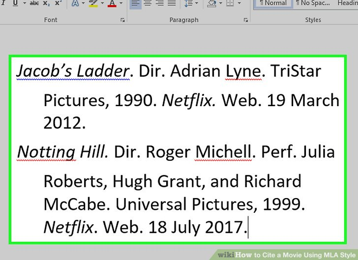 how to cite a movie using mla style practical information