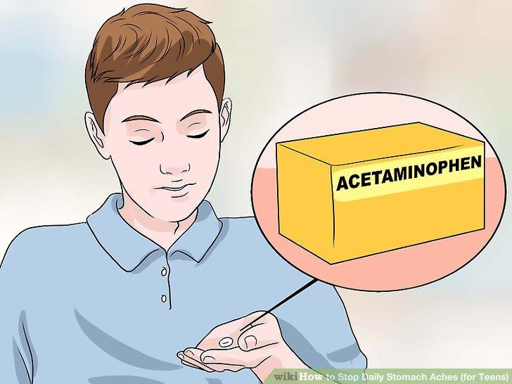 Nehmen Sie ein Nicht-Aspirin-Schmerzmittel gegen allgemeine Magenschmerzen.