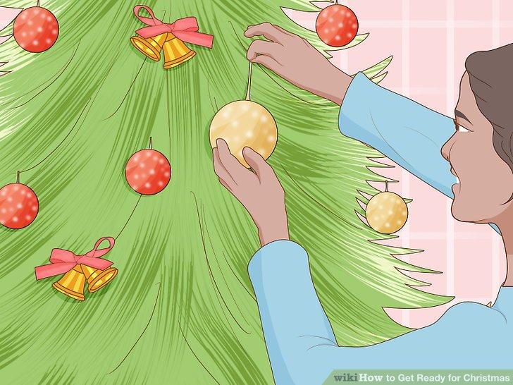 Holen Sie sich Ihren Weihnachtsbaum und schmücken Sie ihn.