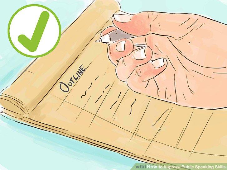 Schreiben Sie einen Umriss für Ihre Rede auf.