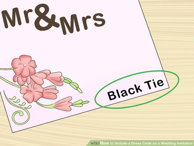 How To Include A Dress Code On Wedding Invitation 9 Steps